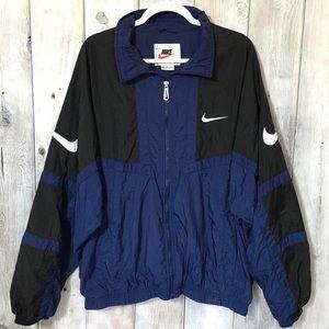 Vintage Nike Swoosh Windbreaker Jacket Zip Up XL